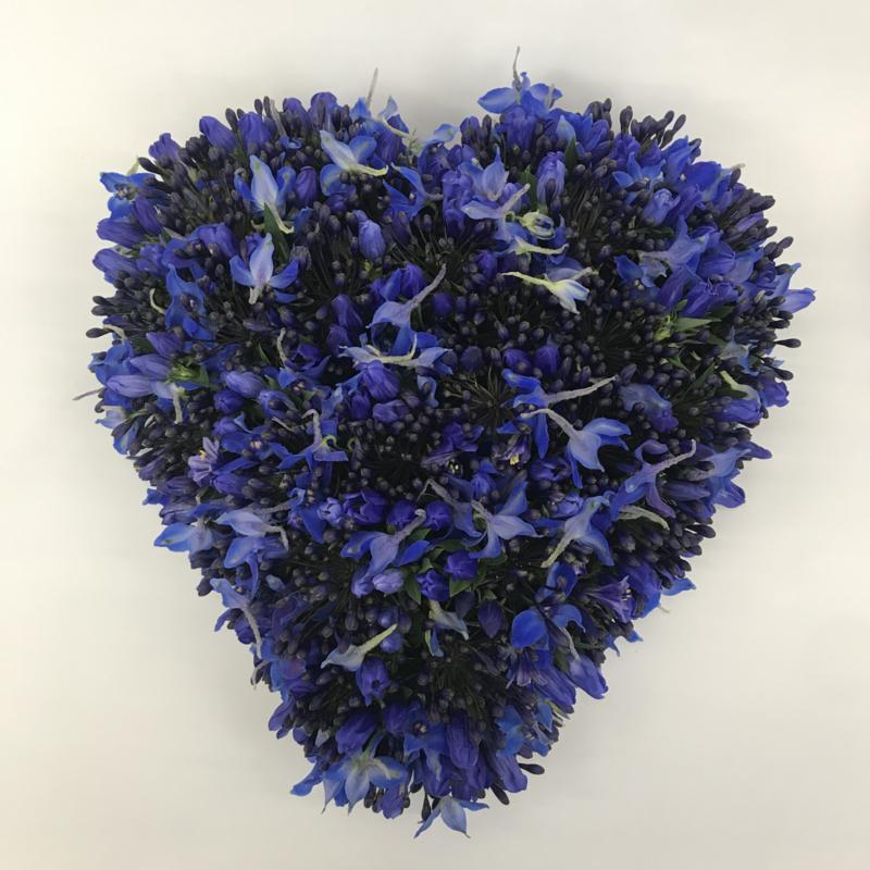 Blauw hart | 50cm