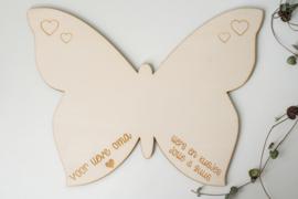 gepersonaliseerde afscheid vlinder groot