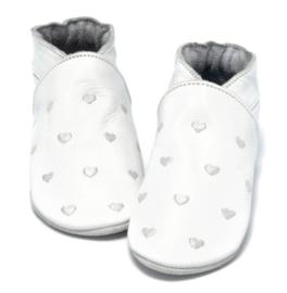 Babyslofjes hartjes wit