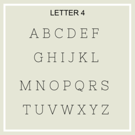 Houten letter (verschillende soort)