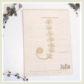 Poster | Floral letter