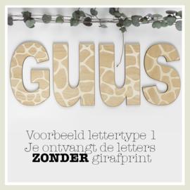 Tekst/Naam ZONDER print