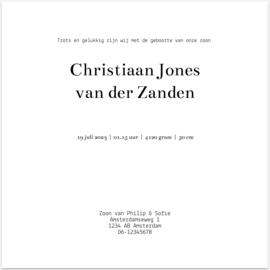 Kaart   Christiaan