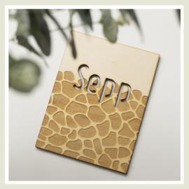 Naambord | Girafprint