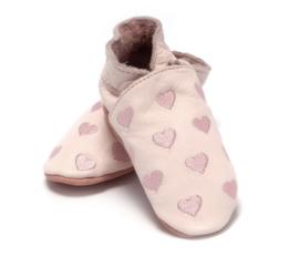 Babyslofjes roze hartjes