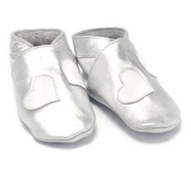 Babyslofjes zilver hartje BD