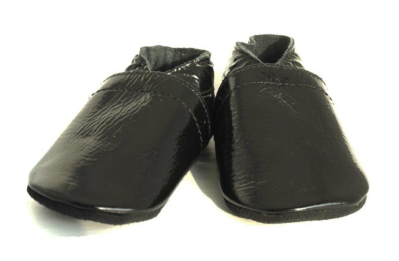 Babyslofjes zwart lak