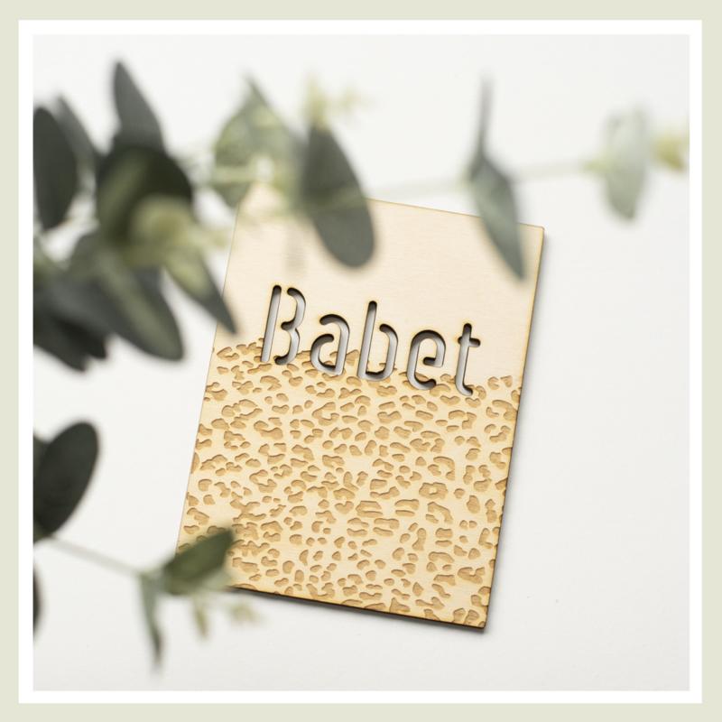 Naambord | Panterprint