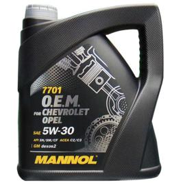MANNOL 7701 O.E.M. 5W-30 API SN/SM/CF            4X  4 LTR