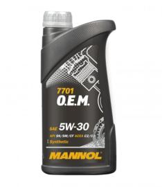 MANNOL 7701 O.E.M. 5W-30 API SN/SM/CF              20X1 LTR