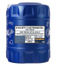 8104  MTF-4 Getriebeoel 75W-80 API GL-4/GL-5    20LTR