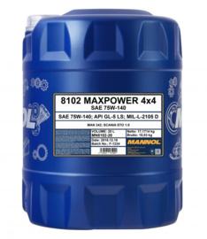 8102 Maxpower 4x4 75W-140 API GL-5 LS    20LTR