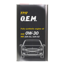 7717 O.E.M. 0W-30 API SN/CF  MERCEDES-BENZ   4LTR