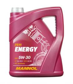 7511  Energy 5W-30 API SL/CH-4   4X5LTR
