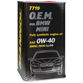 7719 O.E.M. 0W-40 API SN/CF  BMW / MINI    4X4LTR