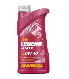 7901 Legend + Ester 0W-40 API SN / CF   20X 1 LTR