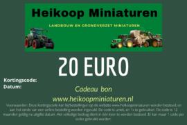 Cadeau bon 20 euro