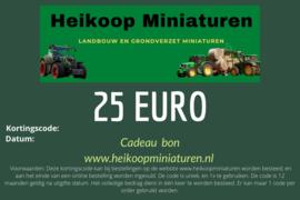 Cadeau bon 25 euro