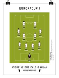 Poster - AC Milan 1989 - wit
