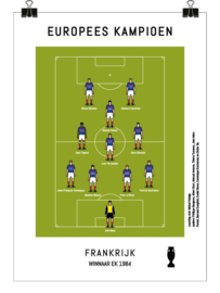 Poster - Frankrijk 1984