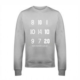 Voetbal sweater - rugnummers