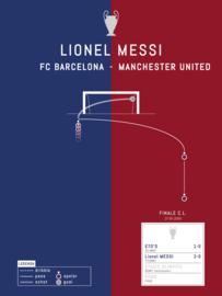 Poster - Messi 2009 goal