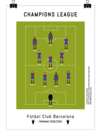 Poster - FC Barcelona 2009