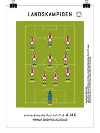 Poster - Ajax 2019 kampioen