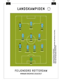 Poster - Feyenoord 2017 kampioen blauw