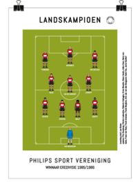 Poster - PSV 1986 kampioen