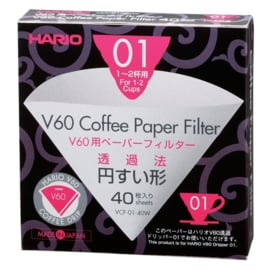 Hario V60-01 paper filters (40pc)