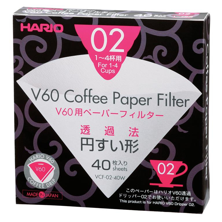 Hario V60-02 paper filters (40pc)