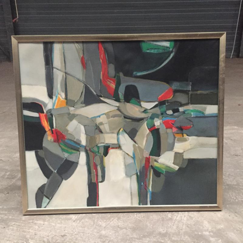 Abstract schilderij (niet gesigneerd)