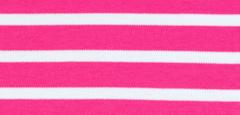 Bretonse streep hoofdband Fuchsia - Wit