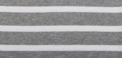 Bretonse streep hoofdband Grijs - Wit
