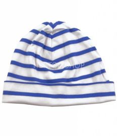 Bretonse kindermuts Wit - Royalblue