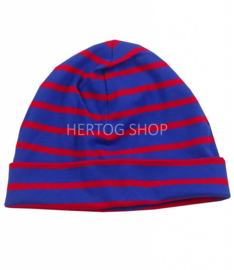 Bretonse kindermuts Royalblue - Rood
