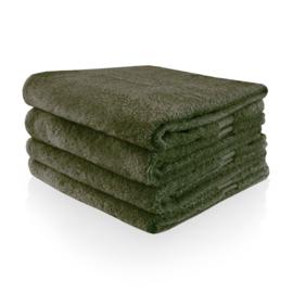 Handdoek met naam of tekst - Bosgroen