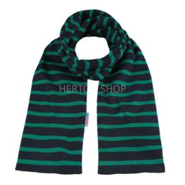 Bretonse sjaal 140x15 cm   Marineblauw - Groen