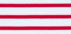 Bretonse streep hoofdband Wit - Donkerrood