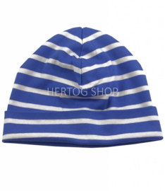 Bretonse kindermuts Royalblue - Wit