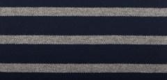 Bretonse streep hoofdband Marineblauw - Grijs