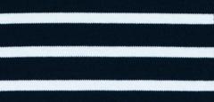 Bretonse streep hoofdband Marineblauw - Wit
