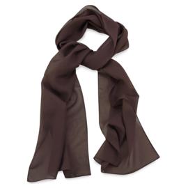 Sjaal Premium Lang Donkerbruin