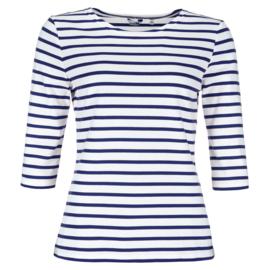 Bretons damesshirt ronde hals 3/4e mouw