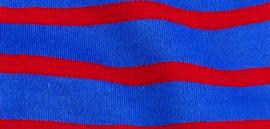 Bretonse streep hoofdband Royalblue - Rood
