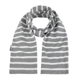 Bretonse sjaal 140x15 cm   Grijs - Wit