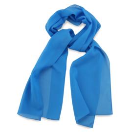 Sjaal Premium Lang Processblauw