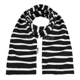 Bretonse sjaal 140x15 cm   Zwart - Wit
