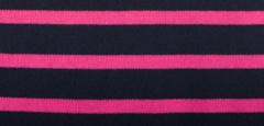 Bretonse streep hoofdband Marineblauw - Fuchsia